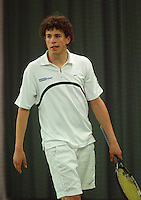 10-3-06, Netherlands, tennis, Rotterdam, National indoor junior tennis championchips, Phillipe Brand
