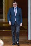 Spanish prime minister Mariano Rajoy before the the meeting with Ecuadorian prime minister Rafael Correa at Moncloa Palace in Madrid, Spain. January 30th 2017. (ALTERPHOTOS/Rodrigo Jimenez)