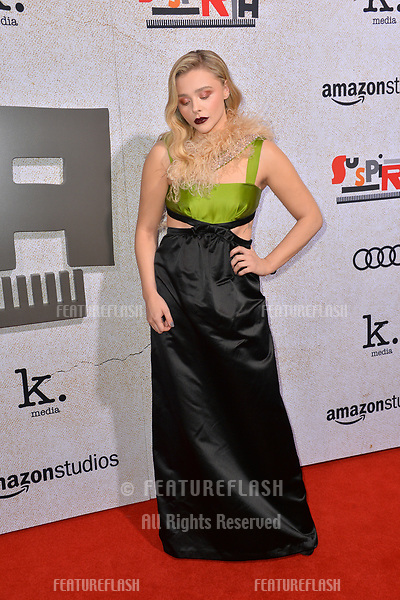 "LOS ANGELES, CA. October 24, 2018: Chloe Grace Moretz at the Los Angeles premiere for ""Suspiria"" at the Cinerama Dome.<br /> Picture: Paul Smith/Featureflash"