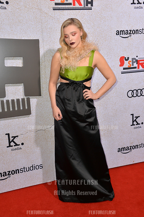 """LOS ANGELES, CA. October 24, 2018: Chloe Grace Moretz at the Los Angeles premiere for """"Suspiria"""" at the Cinerama Dome.<br /> Picture: Paul Smith/Featureflash"""