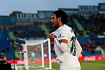Valencia CF's Daniel Parejo celebrates goal during La Liga match between Getafe CF and Valencia CF at Coliseum Alfonso Perez in Getafe, Spain. November 10, 2018.