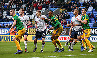 Bolton Wanderers' players attack a corner <br /> <br /> Photographer Andrew Kearns/CameraSport<br /> <br /> The EFL Sky Bet Championship - Bolton Wanderers v Preston North End - Saturday 9th February 2019 - University of Bolton Stadium - Bolton<br /> <br /> World Copyright © 2019 CameraSport. All rights reserved. 43 Linden Ave. Countesthorpe. Leicester. England. LE8 5PG - Tel: +44 (0) 116 277 4147 - admin@camerasport.com - www.camerasport.com