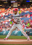 22 May 2015: Philadelphia Phillies outfielder Ben Revere leads off a game against the Washington Nationals at Nationals Park in Washington, DC. The Nationals defeated the Phillies 2-1 in the first game of their 3-game weekend series. Mandatory Credit: Ed Wolfstein Photo *** RAW (NEF) Image File Available ***