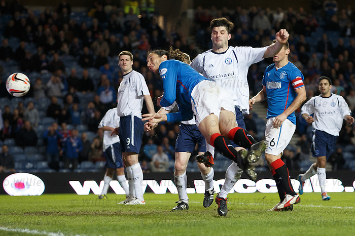 Bilel Mohsni heads in the second goal