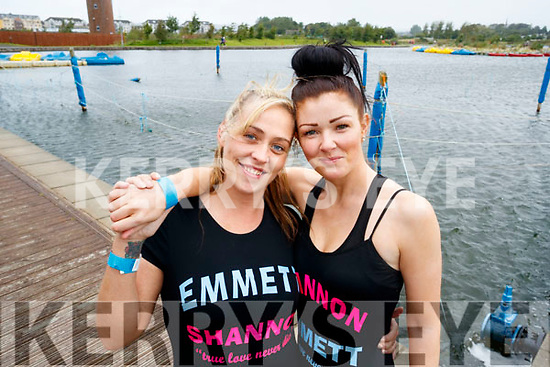 Gemma and Linda O'Brien, Tralee, who were running in memory of their late niece and nephew who had both received treatment in Crumlin Children's Hospital.