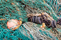 Commercial fishing nets.