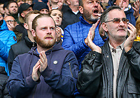 Leeds United fans give a minute of applause in support of Toby Nye<br /> <br /> Photographer Alex Dodd/CameraSport<br /> <br /> The EFL Sky Bet Championship - Leeds United v Brentford - Saturday 6th October 2018 - Elland Road - Leeds<br /> <br /> World Copyright &copy; 2018 CameraSport. All rights reserved. 43 Linden Ave. Countesthorpe. Leicester. England. LE8 5PG - Tel: +44 (0) 116 277 4147 - admin@camerasport.com - www.camerasport.com