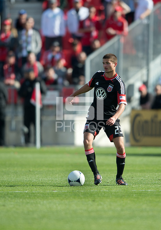 05 May 2012: D.C. United defender Perry Kitchen #23 in action during an MLS game between DC United and Toronto FC at BMO Field in Toronto..D.C. United won 2-0.