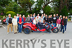 Mayor of Tralee Cllr: Jim Finucane and Grace O'Donnell sitting on a Trike Bike in the Meadowlands Hotel on Tuesday surrounded by members of the German bike club called Tikes and Fun who visited Tralee as a direct result of meeting Go Kerry & Kerry County Council representatives at a travel fair in Stuttgart