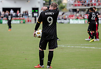 Washington, DC. - Sunday, September 16, 2018: D.C United and the New York Red Bulls tied 3-3 in a MLS match at Audi Field.