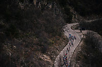 peloton from above<br /> <br /> 76th Paris-Nice 2018<br /> stage 6: Sisteron &gt; Vence (198km)