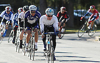 Penn State's Andrew Artz in the Men's D1 of the Penn State Frat Row Criterium of the Eastern Collegiate Cycling Conference Championships on April 26, 2015. Photo'© 2015 Craig Houtz