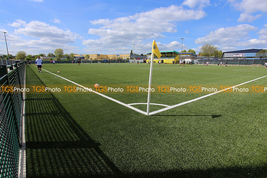 Artificial pitch of Haringey FC at White Hart Lane  during Haringey Borough vs Bowers & Pitsea, Ryman League Division 1 North Football at Coles Park Stadium on 15th April 2017