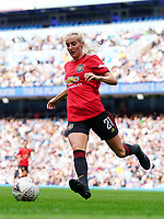 20190907 – MANCHESTER, ENGLAND: Manchester United's Millie Turner is pictured during the match between Manchester City Women and Manchester United Women, first game for both of the teams in the Barclays FA Women's Super League , Saturday  7th September 2019 at the Ethiad Stadium, Manchester. PHOTO SPORTPIX.BE | Sevil Oktem