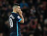Manchester City's Sergio Aguero looks on dejected<br /> <br /> Barclays Premier League- Arsenal vs Manchester City - Emirates Stadium - England - 21st December 2015 - Picture David Klein/Sportimage