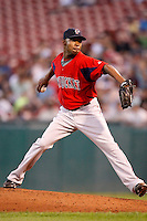 July 28, 2009:  Pitcher Marcus McBeth of the Pawtucket Red Sox during a game at Coca-Cola Field in Buffalo, NY.  Pawtucket is the International League Triple-A affiliate of the Boston Red Sox.  Photo By Mike Janes/Four Seam Images