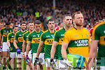 Aidan O'Mahony Kerry players in the pre match parade before the Munster Final at Fitzgerald Stadium, Killarney on Saturday evening.