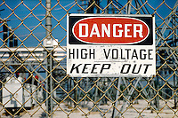 ELECTRIC POWER SUBSTATION<br /> Electrical Sub-station<br /> High voltage warning sign