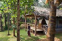 Kerala, India, April 2008. Hornbill Camp is situated on the edge of Salim Ali Bird Sanctuary formerly known as Thattekkad.  The backwaters of Kerala are reknowned for its rich culture. The most adventurous way to explore them is by kayak. We joined Kalypso Adventures for our adventure. Photo by Frits Meyst/Adventure4ever.com