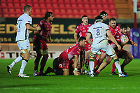 Marc Jones of Scarlets in action during the European Rugby Challenge Cup Round 1 match between the Scarlets and London Irish at Parc Y Scarlets in Llanelli, Wales, UK. Saturday 16th November 2019