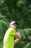Martin Laird (SCO) watches his tee shot on 9 during Friday's round 2 of the PGA Championship at the Quail Hollow Club in Charlotte, North Carolina. 8/11/2017.<br /> Picture: Golffile | Ken Murray<br /> <br /> <br /> All photo usage must carry mandatory copyright credit (&copy; Golffile | Ken Murray)