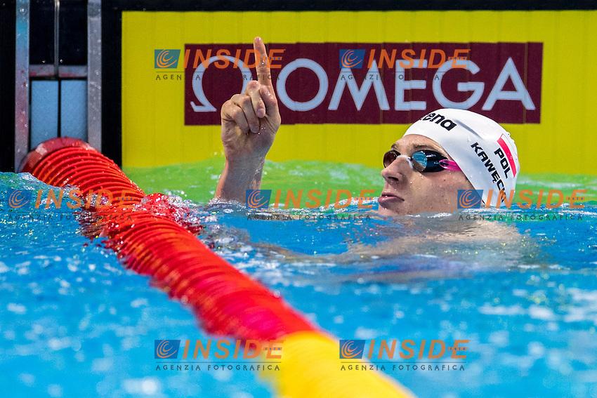 KAWECKI Radoslaw POL Gold Medal<br /> Men's 200m Backstroke<br /> 13th Fina World Swimming Championships 25m <br /> Windsor  Dec. 11th, 2016 - Day06 Finals<br /> WFCU Centre - Windsor Ontario Canada CAN <br /> 20161211 WFCU Centre - Windsor Ontario Canada CAN <br /> Photo &copy; Giorgio Scala/Deepbluemedia/Insidefoto