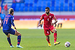 Sayed Dhiya Saeed of Bahrain (R) in action during the AFC Asian Cup UAE 2019 Group A match between Bahrain (BHR) and Thailand (THA) at Al Maktoum Stadium on 10 January 2019 in Dubai, United Arab Emirates. Photo by Marcio Rodrigo Machado / Power Sport Images