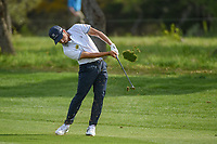 Abraham Ancer (MEX) hits his approach shot on 1 during day 2 of the Valero Texas Open, at the TPC San Antonio Oaks Course, San Antonio, Texas, USA. 4/5/2019.<br /> Picture: Golffile | Ken Murray<br /> <br /> <br /> All photo usage must carry mandatory copyright credit (&copy; Golffile | Ken Murray)