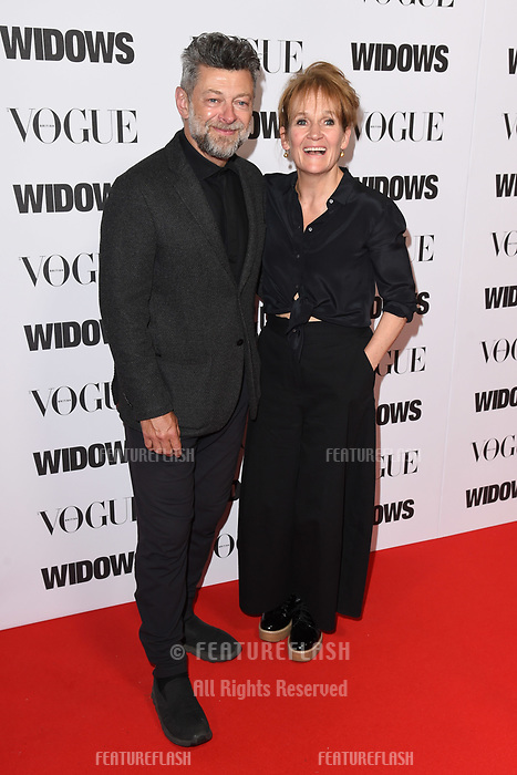 """LONDON, UK. October 31, 2018: Andy Serkis & Lorraine Ashbourne at the """"Widows"""" special screening in association with Vogue at the Tate Modern, London.<br /> Picture: Steve Vas/Featureflash"""