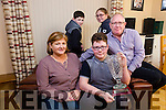 Timmy Dillon, Kilflynn, Overall Winner 2016 of the Lee Strand/Kerry Garda Youth Achievement Awards. Pictured with Mom Mary Dillon, Dad Bertie Dillon, Brother Garry Dillon and Sister Orla Dillon