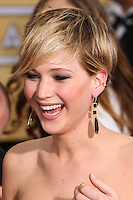 LOS ANGELES, CA - JANUARY 18: Jennifer Lawrence at the 20th Annual Screen Actors Guild Awards held at The Shrine Auditorium on January 18, 2014 in Los Angeles, California. (Photo by Xavier Collin/Celebrity Monitor)