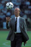 6th June 1989; Dublin, Ireland;   National trainer Jack Charlton (Ireland) during a friendly international game