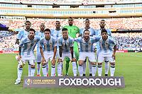 Foxborough, MA - Saturday June 18, 2016: Argentina Starting Eleven prior to a Copa America Centenario quarterfinal match between Argentina (ARG) and Venezuela (VEN)  at Gillette Stadium.