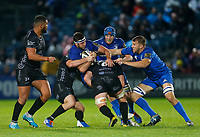 1st November 2019; RDS Arena, Dublin, Leinster, Ireland; Guinness Pro 14 Rugby, Leinster versus Dragons; Caelan Doris of Leinster is tackled by Harri Keddie of Dragons - Editorial Use