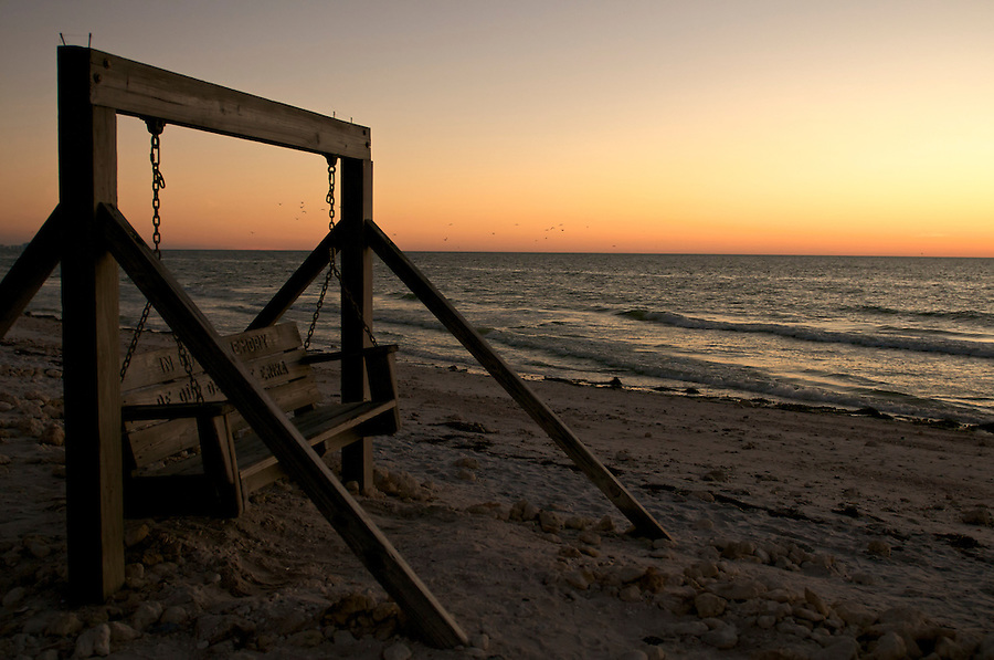 Bench in Noneymoon Island, Florida.