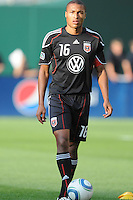 DC United defender Jordan Graye (16).  DC United defeated Chivas USA 3-2 at RFK Stadium, Saturday  May 29, 2010.