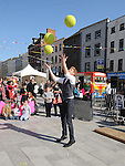 Juggling at the Drogheda Arts Festival. Photo: Colin Bell/pressphotos.ie