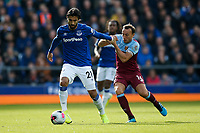 Andre Gomes of Everton and Mark Noble of West Ham United during the Premier League match between Everton and West Ham United at Goodison Park on October 19th 2019 in Liverpool, England. (Photo by Daniel Chesterton/phcimages.com)<br /> Foto PHC/Insidefoto <br /> ITALY ONLY