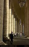 Colonnade interior Constantine Wing GianLorenzo Bernini 1666 Piazza San Pietro St Peter's Square St Peter's Basilica Rome