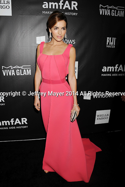 HOLLYWOOD, CA- OCTOBER 29: Actress Camilla Belle attends amfAR LA Inspiration Gala honoring Tom Ford at Milk Studios on October 29, 2014 in Hollywood, California.