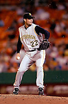29 June 2005: Ryan Vogelsong, pitcher for the Pittsburgh Pirates, on the mound during a game against the Washington Nationals. The Nationals rallied to defeat the Pirates 3-2 in a rain delayed game at RFK Stadium in Washington, DC.  Mandatory Photo Credit: Ed Wolfstein