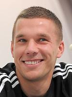 FUSSBALL INTERNATIONAL  EURO 2012   15.06.2012  Pressekonferenz der Deutschen Nationalmannschaft in Danzig Lukas Podolski (Deutschland)