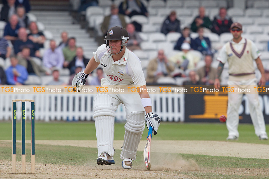 Rory Hamilton-Brown, Surrey CCC makes his ground - Surrey CCC v Somerset CCC - LV County Championship, Division1 cricket at The Kia Oval - 19/05/12 - MANDATORY CREDIT: Ray Lawrence/TGSPHOTO - Self billing applies where appropriate - 0845 094 6026 - contact@tgsphoto.co.uk - NO UNPAID USE.