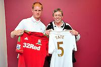 Swansea city fc sponsor awards... saturday 19th may 2013...<br /> <br /> Alan Tate