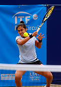 June 17th 2017, The Northern Lawn tennis Club, Manchester, England; ITF Womens tennis tournament; Zarina Dyas (KAZ) in action during her semi final singles match against number six seed Naomi Broady (GBR); Dyas won in straight sets and meets Aleksandra Krunic (SRB) in tomorrow's final