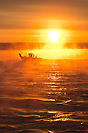 Seattle, sunrise, Puget Sound, fishing boat, Washington State,