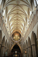 Interior of wells Cathedral, Somerset England, 6-2002