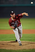 Idaho Falls Chukars relief pitcher Derrick Adams (23) during a Pioneer League game against the Orem Owlz at The Home of the OWLZ on August 13, 2019 in Orem, Utah. Orem defeated Idaho Falls 3-1. (Zachary Lucy/Four Seam Images)