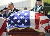 "United States Senator Daniel Akaka (Democrat of Hawaii) bids ""Aloha to the late U.S. Senator Daniel Inouye (Democrat of Hawaii). 'Aloha' in the  Hawaiian language meaning, 'hello', 'goodbye' and 'i love you."" Akaka spoke near the casket of the late Senator Inouye at the National Memorial Cemetery of the Pacific during ceremonies on Sunday, December 23, 2012.  Senator Inouye was a Medal of Honor recipient and a United States Senator since 1963..Credit: Cory Lum / Pool via CNP"