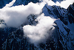 Aerial over Alaska Range, Denali National Park, Alaska